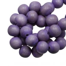 houten kralen rond lavendel paarse kleur 6 mm