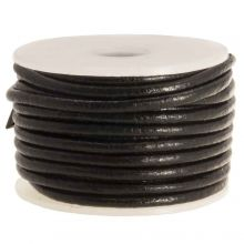DQ leer Regular (2 mm) Black (5 Meter)
