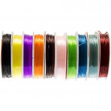 Gekleurd Elastiek (0.8 mm) Mix Color (10 x 8 Meter)