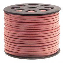 Faux Suede Veter (3 mm) Blush Pink (91 Meter)