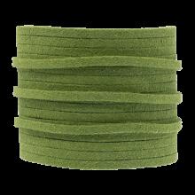 Faux Suede Veter (3 mm) Parrot Green (5 Meter)