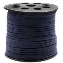 Faux Suede Veter (3 mm) Dark Blueberry (91 Meter)