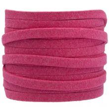 Faux Suede Veter (5 mm) Hot Pink (5 Meter)