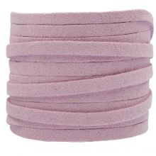Faux Suede Veter (5 mm) Lilac (5 Meter)