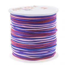 Nylon Koord (1 mm) Mix Color - Berries (100 meter)