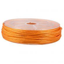 Satijnkoord (2 mm) Orange (15 Meter)