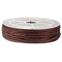 Satijnkoord (1.5 mm) Dark Brown (15 Meter)