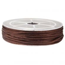 Satijnkoord (2 mm) Dark Brown (15 Meter)