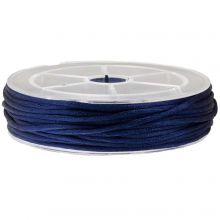 Satijnkoord (2 mm) Dark Blue (15 Meter)