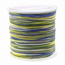 Nylon Koord (1 mm) Mix Color - Navy Yellow (100 meter)