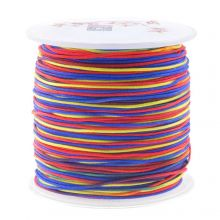 Nylon Koord (1 mm) Mix Color - Rainbow (100 meter)