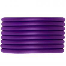 Rubber Koord (4 mm) Perfect Purple (5 Meter) holle binnenkant
