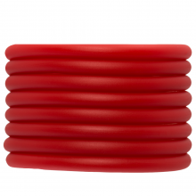 Rubber Koord (5 mm) Bright Red (2 Meter) holle binnenkant
