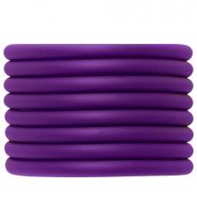 Rubber Koord (5 mm) Perfect Purple (2 Meter) holle binnenkant