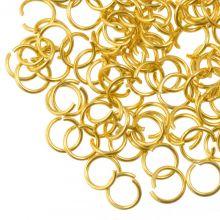 Stainless Steel Buigringen (4 mm) Goud (50 Stuks) Dikte 0.5 mm