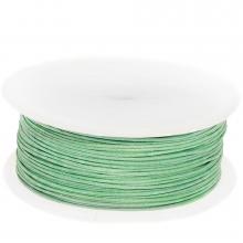 Waxkoord Katoen (ca. 0.8 mm) Bright Mint Green (100 Meter)