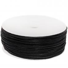 Waxkoord Katoen (ca. 1 mm) Black (90 Meter)