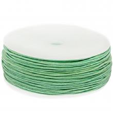 Waxkoord Katoen (ca. 1 mm) Bright Mint Green (90 Meter)