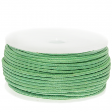 Waxkoord Katoen (ca. 1.5 mm) Bright Mint Green (25 Meter)