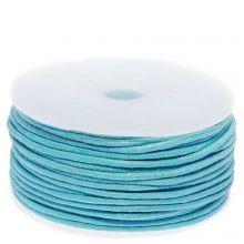 Waxkoord Katoen (ca. 1.5 mm) Light Blue (25 Meter)
