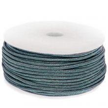 Waxkoord Katoen (ca. 1.5 mm) Petrol Blue (25 Meter)