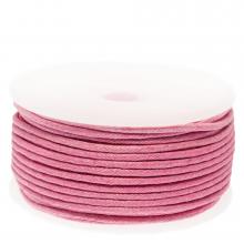 Waxkoord Katoen (ca. 1.5 mm) Pink (25 Meter)