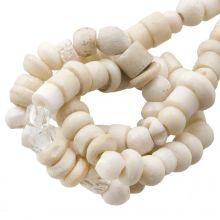 Kralenmix - Bone Kralen (4 x 2 mm) Natural  (150 stuks)