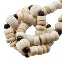 Kralenmix - Bone Kralen (9 x 3 mm) Desert (85 stuks)