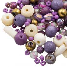Kralenmix - Divers (Diverse Maten) Purple Party (50 Gram)