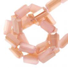 Electroplated Glaskralen (4 x 2 mm) Soft Coral (100 Stuks)