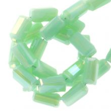 Electroplated Glaskralen (4 x 2 mm) Mint Green (100 Stuks)