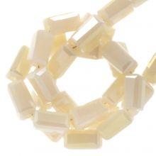 Electroplated Glaskralen (4 x 2 mm) Nude (100 Stuks)