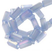 Electroplated Glaskralen (4 x 2 mm) Cornflower (100 Stuks)
