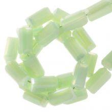 Electroplated Glaskralen (4 x 2 mm) Pastel Green (100 Stuks)