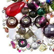 Kralenmix - DQ Glaskralen (Diverse maten) Mix Color (50 Gram)