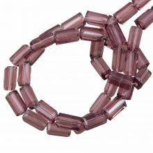 Glaskralen Transparant (7 x 4 mm) Purple Brown (80 Stuks)