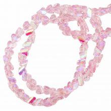 Glaskralen AB Electroplated (3 x 2 mm) Pink (148 Stuks)