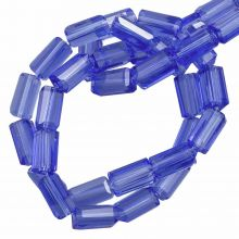 Glaskralen Transparant (7 x 4 mm) Royal Blue (80 Stuks)