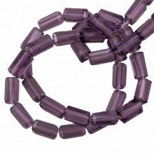 Glaskralen Transparant (7 x 4 mm) Purple (80 Stuks)
