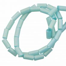 Glaskralen Frosted Electroplated (5 x 2.5 mm) Pale Turquoise (95 Stuks)