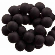 Resin Kralen (8 - 9 mm) Dark Chocolate (20 Stuks)