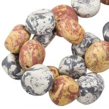 Keramiek kralen (16 x 8 mm) Earth Stone (13 Stuks)