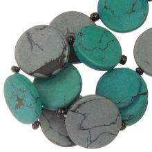 Keramiek kralen (23 x 3.5 mm) Grey / Green (8 Stuks)