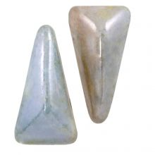 Vexolo® DQ Glaskralen (5 x 8 mm) Alabaster Blue (20 stuks)