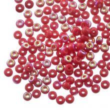 DQ Rocailles (4 mm) Rose Red AB (25 Gram / 350 stuks)