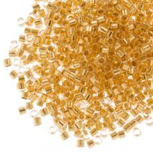 Miyuki Delica (11/0 mm) 24kt Gold Lined Crystal (10 Gram)