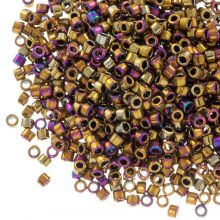 Miyuki Delica (11/0 mm) Metallic Golden Olive Iris (10 Gram)