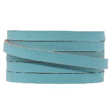 DQ Plat Leer (5 x 2 mm) Sapphire Metallic (1 Meter)