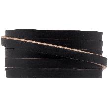 DQ Plat Leer (5 x 2 mm) Black (1 Meter)