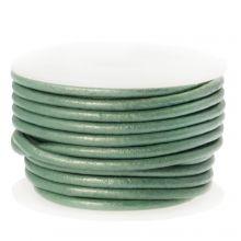 DQ leer Metallic (2 mm) Mint Green (5 Meter)